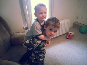 Tristan giving Owen a lift