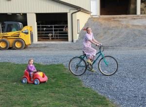 Kirsten giving Jenna rides